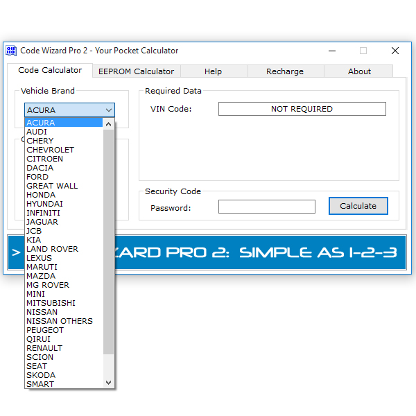 About - Code Wizard Pro 2: Immobiliser Key Programming Software