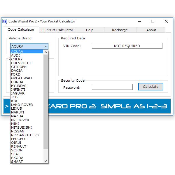 Code Wizard Pro 2 Code Calculator